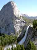 Nevada Fall from John Muir Trail. View from the John Muir Trail in Yosemite, California - looking at Nevada Fall Royalty Free Stock Images
