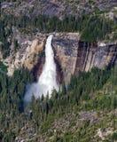 Nevada Fall, parco nazionale di Yosemite fotografia stock