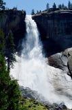 Nevada Fall, Yosemite, Californië, de V.S. stock afbeelding