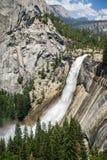 Nevada Fall Yosemite nationalpark, Kalifornien arkivbild