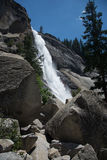 Nevada Falls from the Mist Trail. Yosemite National Park. Waterfall in Yosemite stock photos