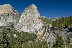 Nevada Falls at the Yosemite National Park. The vast beauty of the Yosemite John Muir Trail in the Yosemite National Park royalty free stock image