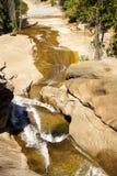 Nevada Falls. At Yosemite Park in California, a pause at Nevada falls stock image
