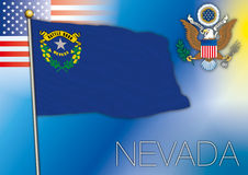 Nevada flag Royalty Free Stock Photos