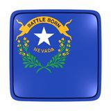 Nevada flag icon. 3d rendering of a Nevada State flag icon. Isolated on white background Stock Photography