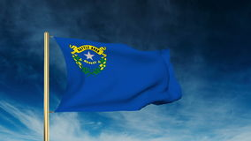 Nevada flag slider style. Waving in the win with stock footage