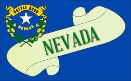 Nevada flaga ślimacznica ilustracji