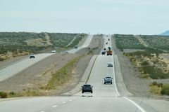 Nevada Freeway Horizon image stock