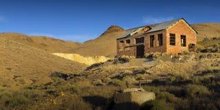Nevada Ghost och brytastad, tunnelläger Fotografering för Bildbyråer