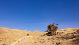 Nevada Ghost Town Ore Bin Royalty Free Stock Images