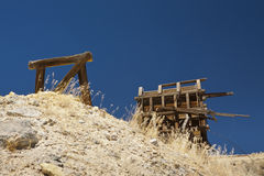 Nevada Ghost Town Ore Bin Royalty Free Stock Photo