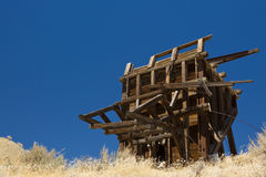 Nevada Ghost Town Ore Bin Stock Photo