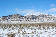 Nevada góry Wzdłuż autostrady 15 Obraz Royalty Free