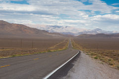 Nevada highway 50 Stock Photography