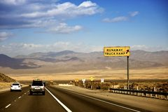 Nevada Highway USA Royalty Free Stock Photo