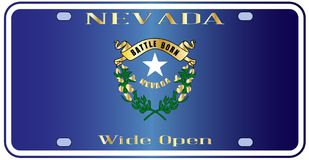 Nevada License Plate Flag illustration libre de droits