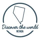 Nevada Map Outline Le vintage découvrent le monde Photo libre de droits
