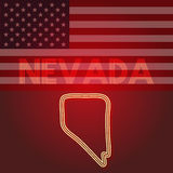 Nevada map, part of the United States of America, Vector illustration Stock Photos