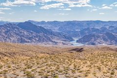Nevada Mojave Desert Landscape Environment with the Colorado River royalty free stock photography