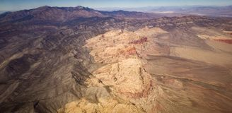 Nevada Mountains from the Air. After leaving McCarran airport Royalty Free Stock Images