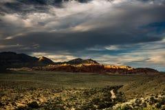 Nevada Mountains, USA. Mountains Charleston, Nevada, USA - sunset stock image