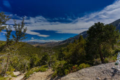 Nevada Mountains, USA. Mountains Charleston, Nevada, USA - sunset royalty free stock photos