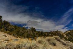 Nevada Mountains, USA. Mountains Charleston, Nevada, USA - sunset royalty free stock photography