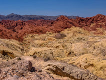 Nevada pożarowej vale obrazy royalty free