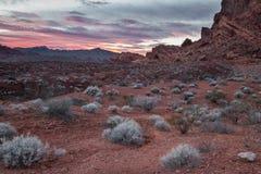Nevada pożarowej vale Obraz Royalty Free