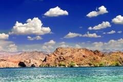 Nevada Pustynia jeziora krajobraz Fotografia Royalty Free