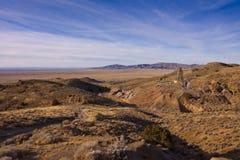 Nevada Quicksilver Mine. Landscape and Nevada Quicksilver Mine under blur sky Stock Photo