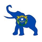 Nevada Republican Elephant Flag. The Nevada  Republican elephant flag over a white background Stock Photos