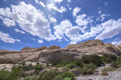 Nevada rock formations in desert Stock Images