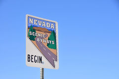 Nevada Scenic Byway. S sign on Highway near Las Vegas, Nevada Royalty Free Stock Photos