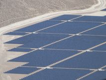 Nevada Solar One power plant seen from helicopter royalty free stock images