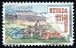 Nevada Staehood usa znaczek pocztowy zdjęcie stock