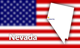 Nevada state contour Royalty Free Stock Image