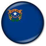 Nevada State flag button Stock Photo