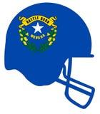 Nevada State Flag Football Helmet Foto de archivo libre de regalías