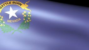 Nevada State Flag Waving ilustración del vector