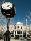 Nevada State Legislature Building, Carson City. Nevada State Legislature building and sidewalk clock, Carson City, Nevada Royalty Free Stock Photography