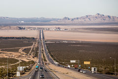 Nevada state line Royalty Free Stock Photo
