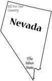 Nevada State Motto et slogan Image stock