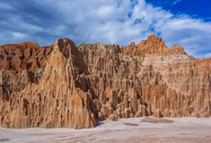 Nevada State Park - Cathedral Gorge. Erosion of Clay Panaca Formation At Cathedral State Park, Nevada Royalty Free Stock Images