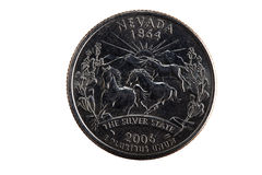 Nevada State Quarter Tail Side United States Stock Photography