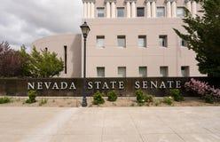 Nevada State Senate building entrance in Carson City. Entrance to the State Legislature of Nevada in Carson City Stock Photo