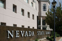 Nevada State Senate. In Carson City, the Nevada state capital Royalty Free Stock Photo