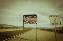 Nevada State Sign Fotografering för Bildbyråer