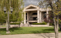 Nevada State Supreme Court building entrance in Carson City. Entrance to the State Supreme Court of Nevada in Carson City Royalty Free Stock Photography