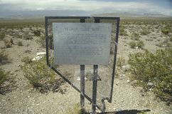 Nevada Test Site, nuclear testing grounds, north of Las Vegas, NV Stock Photography